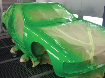 Porsche Tonbridge Restoration Project - The Respray